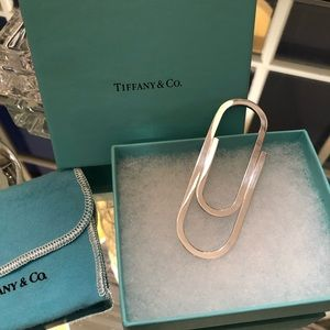 Tiffany Paper Clip Money Clip. NWT